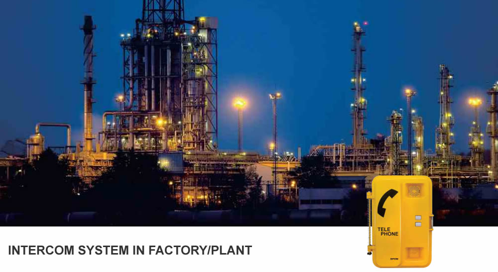 Intercom System In Factory/Plant