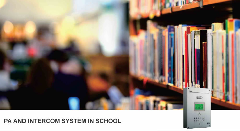 PA system And Intercom system in School